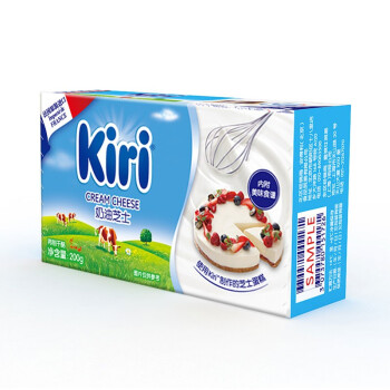 凯芮(Kiri)奶油芝士200g 法国进口凯瑞(奶酪 早餐 蛋糕 面包 烘焙原料)